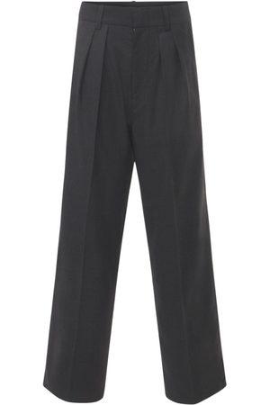 Isabel Marant Kvinder Bukser - Nafy Wool Low Waist Pleated Pants