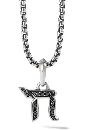 David Yurman Mænd Halskæder - 17mm diamond chain amulet enhancer pendant