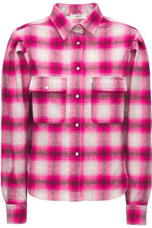 Isabel Marant Reosi Check Wool Blend Shirt
