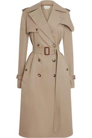 Alexander McQueen Cotton Gabardine Trench Coat