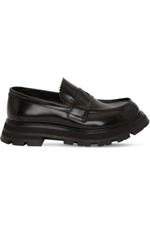 Alexander McQueen 45mm Brushed Leather Loafers