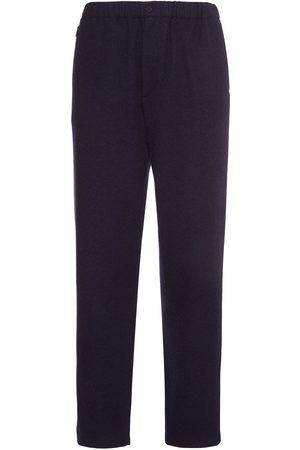 Kenzo Heavy Wool Blend Flannel Jogging Pants