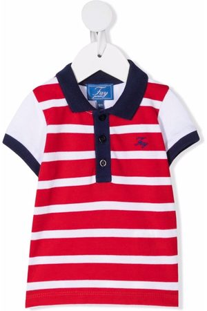 FAY KIDS Baby Poloer - Striped short-sleeved polo shirt