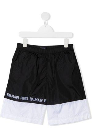 Balmain Drenge Badeshorts - Badeshorts med colourblocking og logobånd