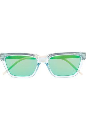 Gucci Transparente rektangulære solbriller