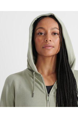 Superdry Kvinder Træning t-shirts - Sport Flex hættetrøje med lynlås