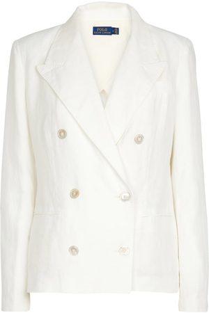 Polo Ralph Lauren Kvinder Blazere - Double-breasted linen blazer