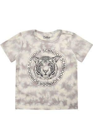 PETIT by Sofie Schnoor Kortærmede - T-shirt - Julius - Warm Grey m. Tiger