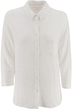 majestic filatures 3/4 sleeve shirt and single pocket
