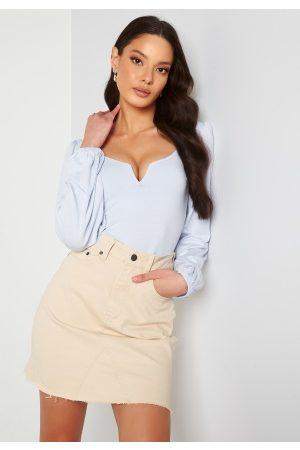 Object Kvinder Mininederdele - Penny HW Rwill Skirt Sandshell XL