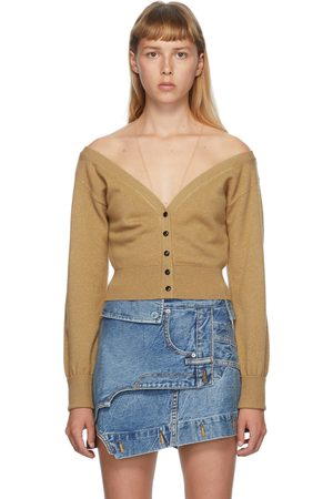 Alexander Wang Beige Fitted Cropped Cardigan