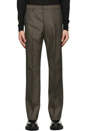 Givenchy Black & Green Skinny-Fit Trousers