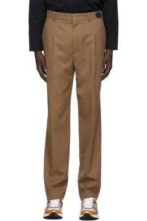 We11 Done Tan Slim-Fit Trousers