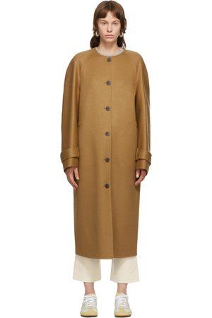 Loewe Tan Wool & Cashmere Raglan Coat