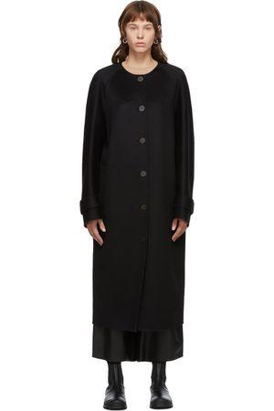 Loewe Black Wool & Cashmere Raglan Coat