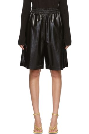 Bottega Veneta Brown Leather Shorts