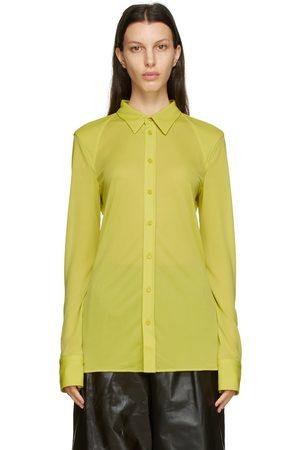 Bottega Veneta Green Crepe Jersey Shirt