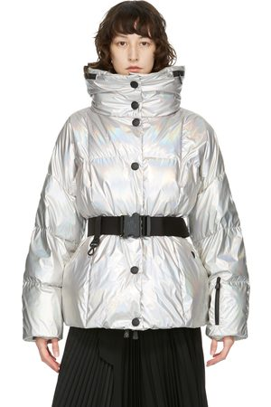 Moncler Silver Down Metallic Coat