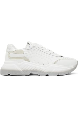 Dolce & Gabbana White & Grey Gradient Daymaster Sneakers