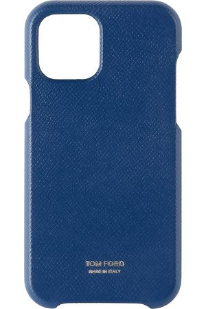 Tom Ford Navy Grained Leather iPhone 11 Pro Case