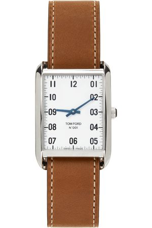 Tom Ford Brown & Silver Leather 001 Watch