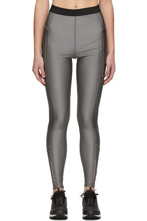 Moncler Silver Contrast Waistband Leggings