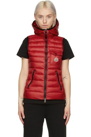 Moncler Red Longue Saison Down Glyco Vest