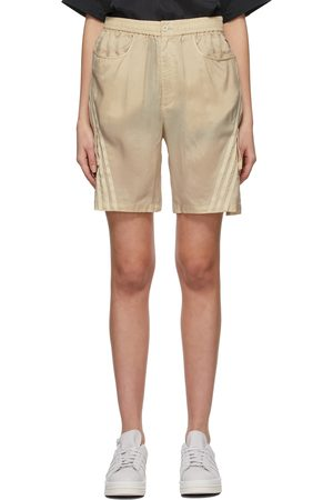 Y-3 Beige CH3 Sanded Cupro Shorts