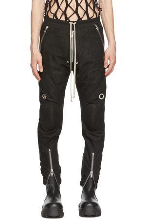 Rick Owens Black Lambskin Bauhaus Pants
