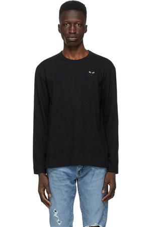 Comme des Garçons Monochrome Heart Patch Long Sleeve T-Shirt