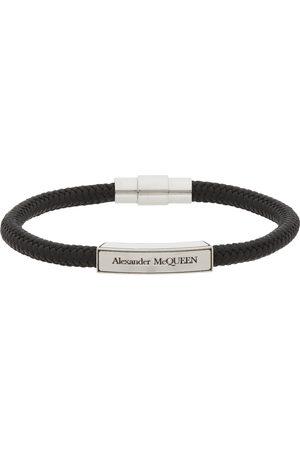 Alexander McQueen Black Cordino Signature Bracelet