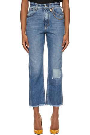 Givenchy Blue Cropped 4G Chain Jeans