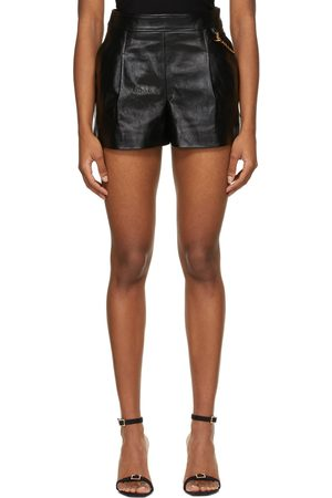 Givenchy Black Leather 4G Chain Shorts