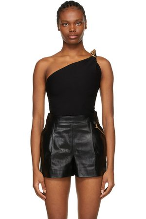 Givenchy Black Asymmetric Spiral Chain Top