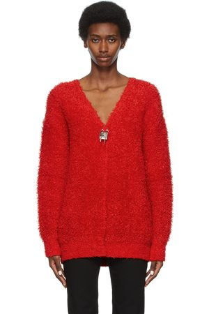 Givenchy Red Padlock Cardigan