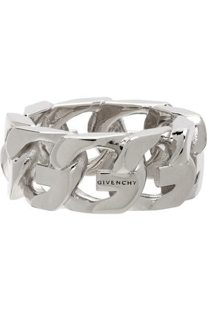 Givenchy Silver G Chain Ring