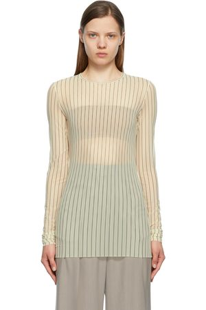 Sportmax Off-White Mesh Striped Tempra Shirt