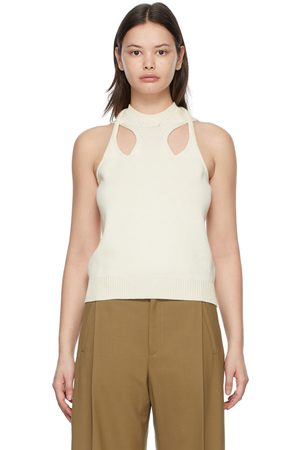 Chloé Off-White Twisted Tank Top