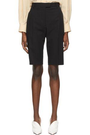 DRIES VAN NOTEN Black Gabardine Bermuda Shorts