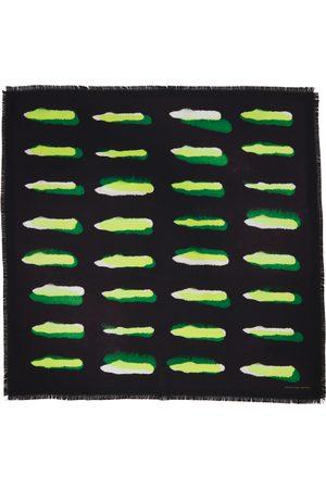DRIES VAN NOTEN Black & Green Len Lye Edition Flick Scarf