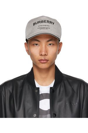 Burberry Black & White Canvas 'Horseferry' Baseball Cap