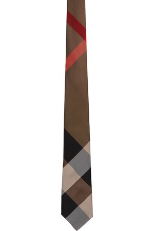 Burberry Brown Giant Check Manston Tie