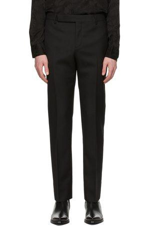 Saint Laurent Black Wool Gabardine Tailored Trousers