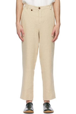 King & Tuckfield Beige Loose Chino Trousers