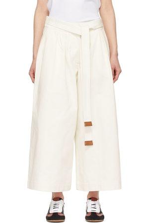 Loewe White Denim Cropped Jeans