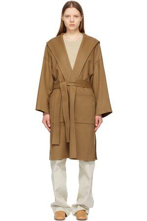 Loewe Brown Hooded Belt Coat