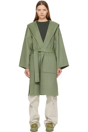Loewe Green Hooded Belt Coat