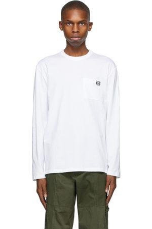 Loewe White Anagram Long Sleeve T-Shirt