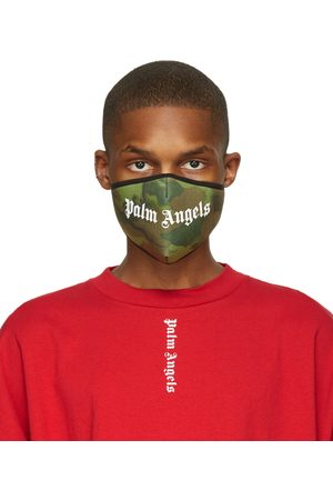 Palm Angels Green Camo Logo Mask