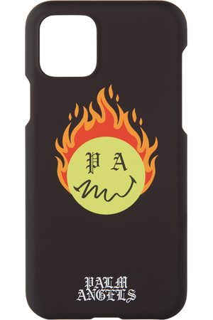 Palm Angels Black Smiley Edition Burning Head iPhone 11 Pro Case